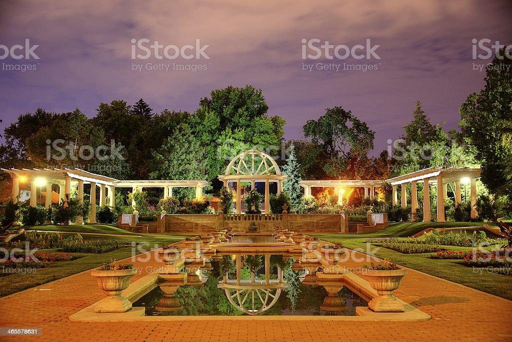 Lake Side Park, Rose Garden stock photo