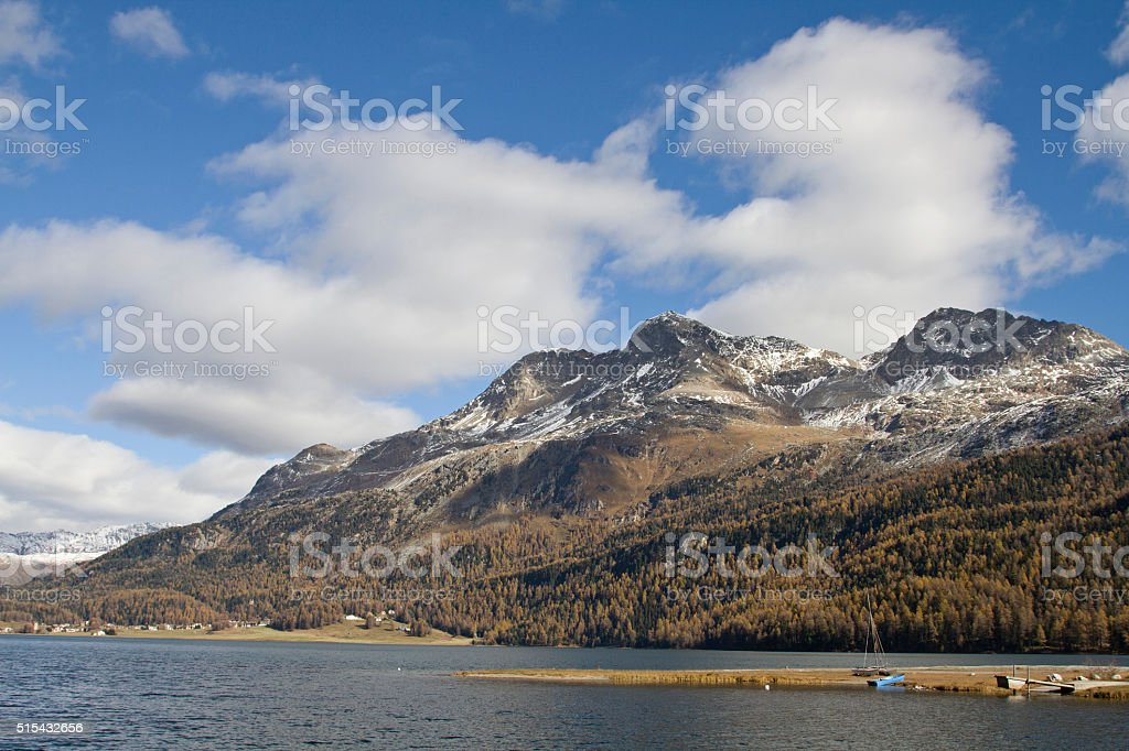 lake Silvaplana stock photo