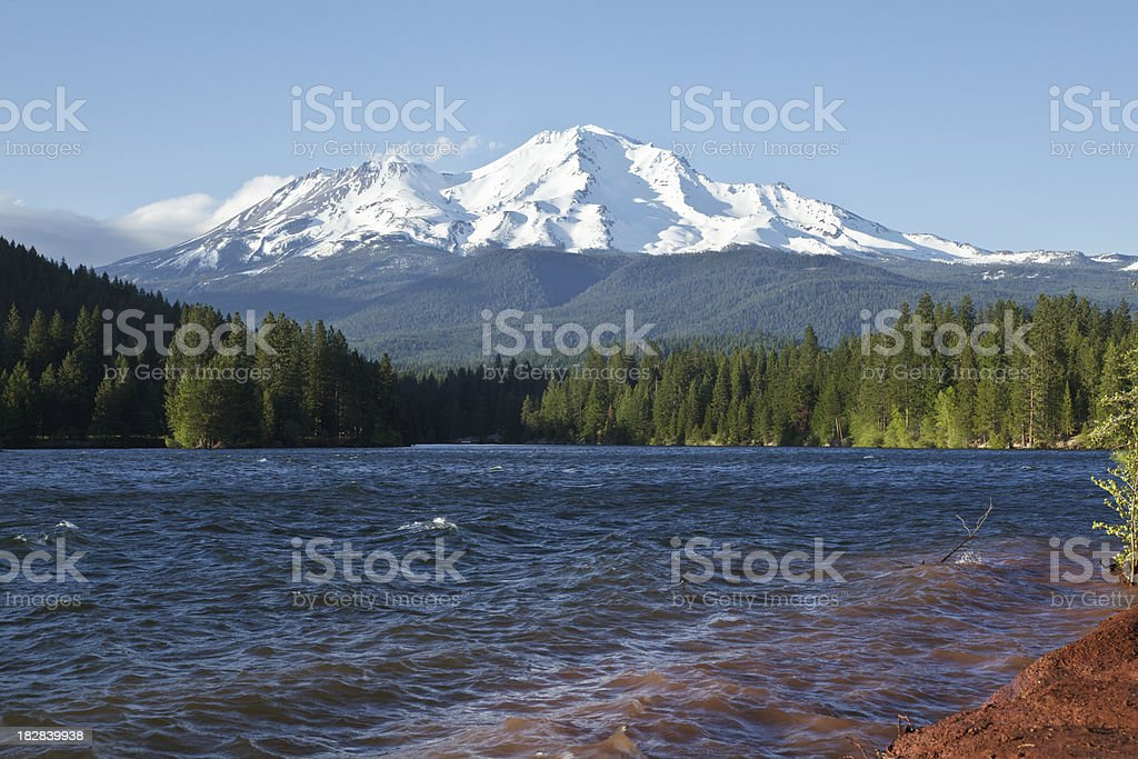 Lake Siskiyou and Mt Shasta stock photo