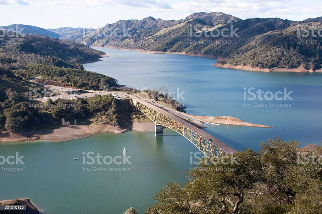 Lake Sonoma Reservoir, Sonoma County, Califorinia stock photo