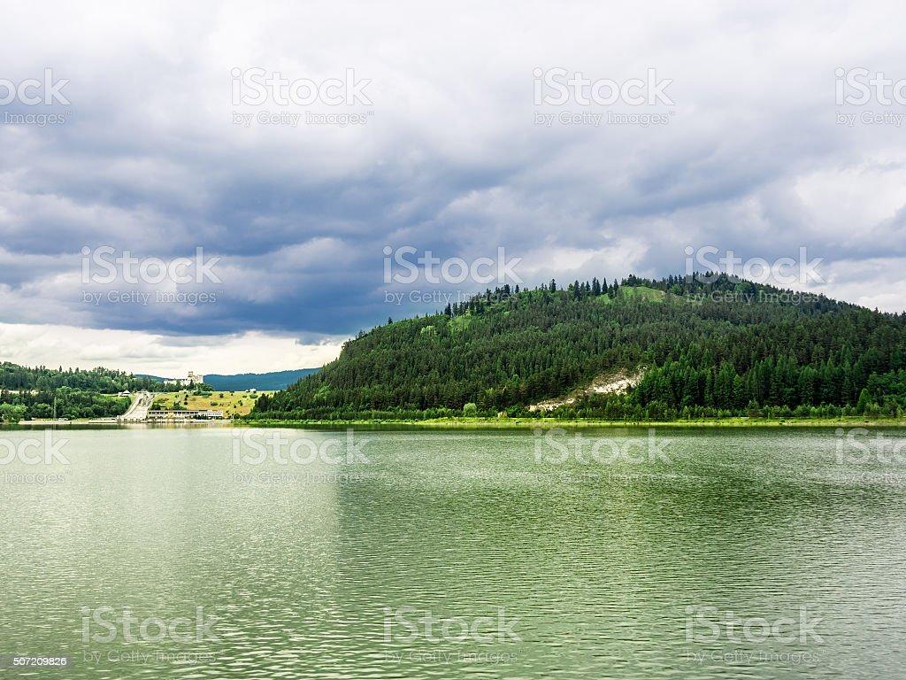 Lake Sromowskie, Poland. stock photo
