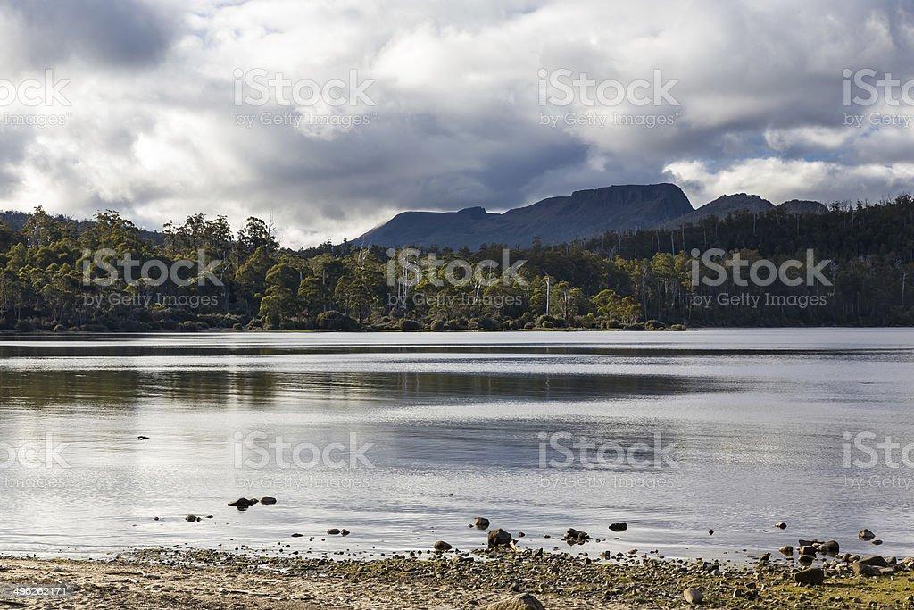 Lake St Clair Tasmania stock photo