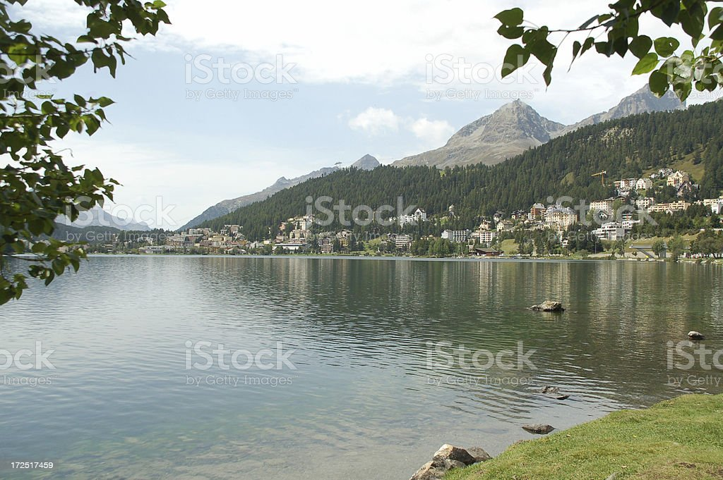 Lake St. Moritz royalty-free stock photo