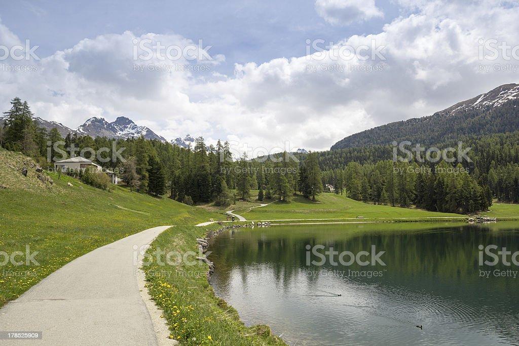 Lake St. Moritz , Switzerland. royalty-free stock photo