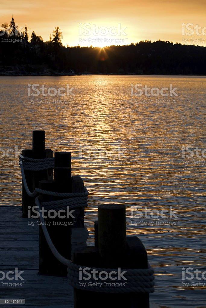 Lake Sunset 2 royalty-free stock photo