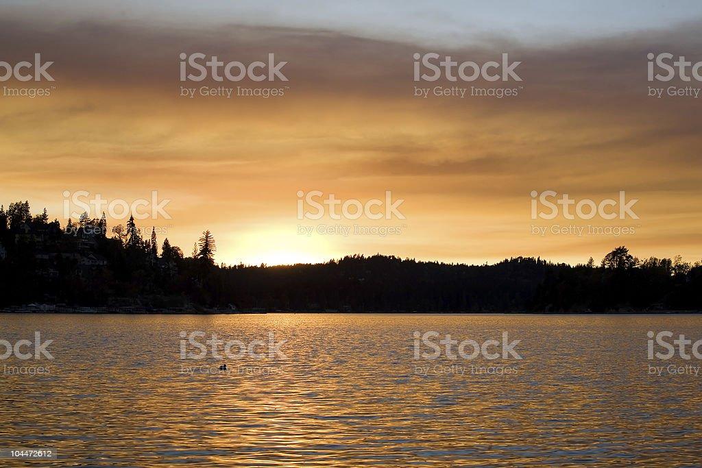 Lake Sunset 3 royalty-free stock photo