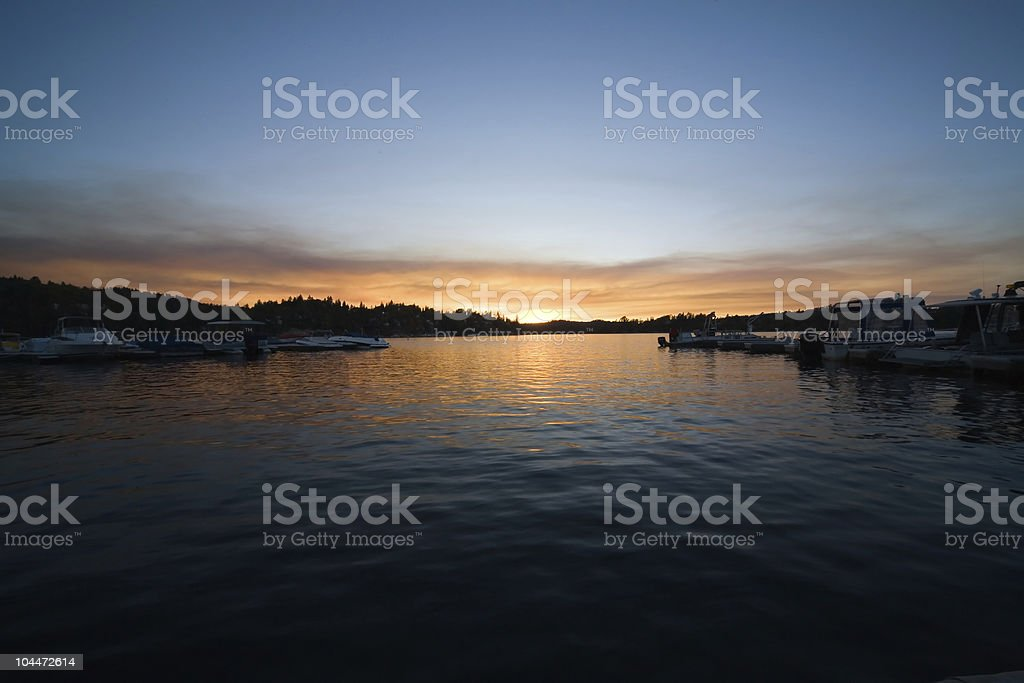 Lake Sunset 5 stock photo