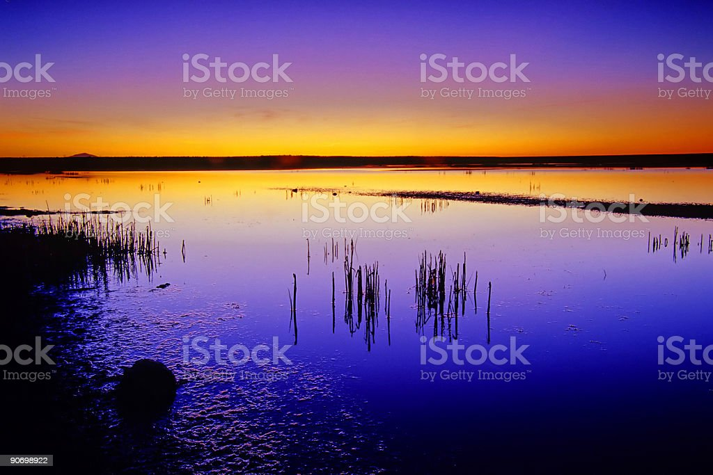 lake sunset landscape abstract royalty-free stock photo