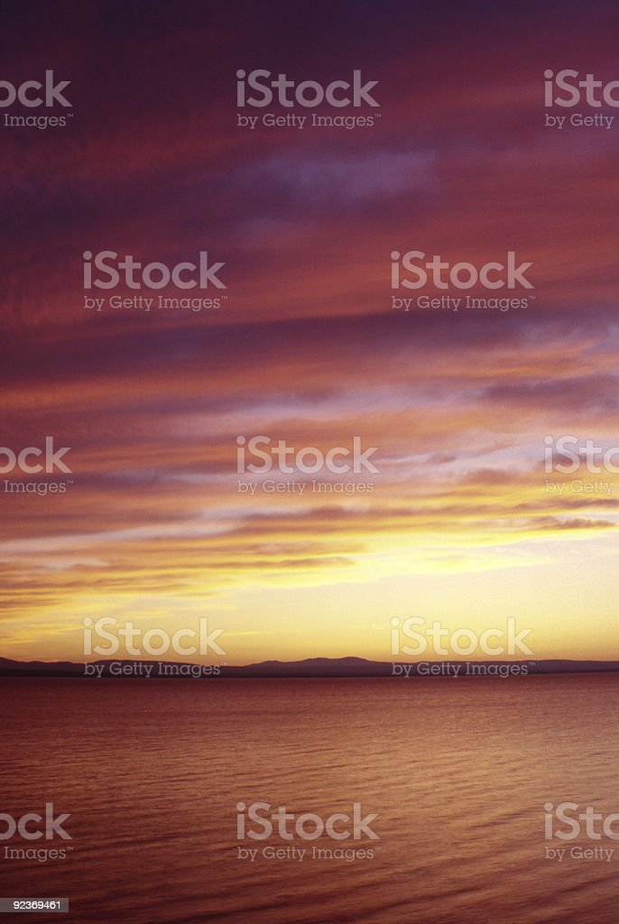 Lake Sunset - Vertical stock photo