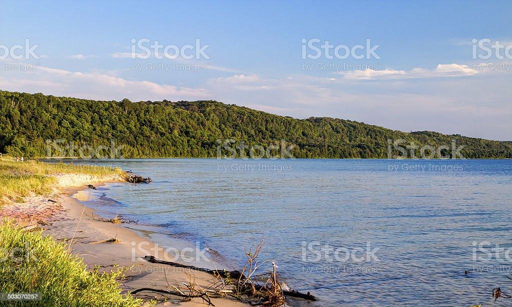 Lake Superior Beach stock photo