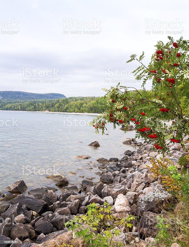 Lake Superior coastline stock photo