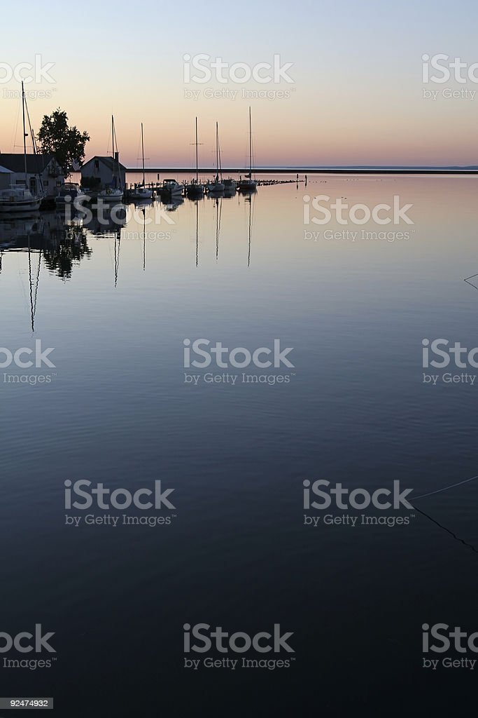 Lake Superior harbor royalty-free stock photo
