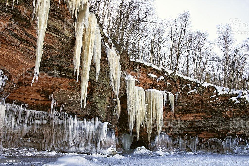 Lake Superior Ice Caves royalty-free stock photo