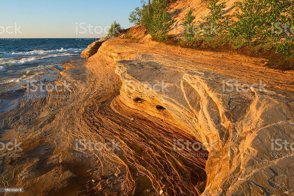 Lake Superior Sandstone Beach royalty-free stock photo