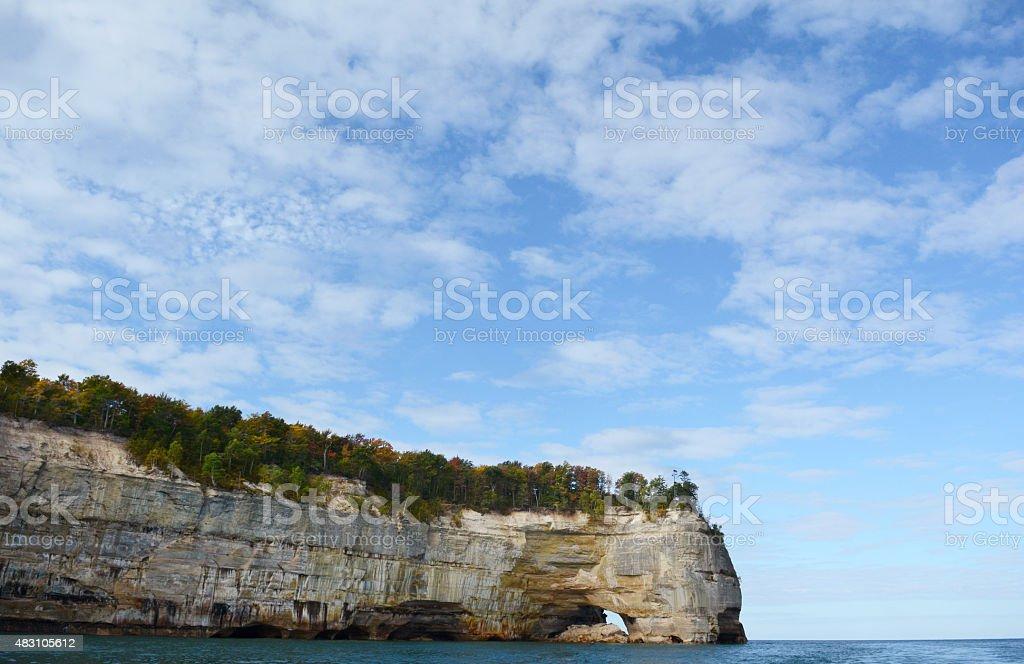 Lake Superior Shoreline in the Fall royalty-free stock photo