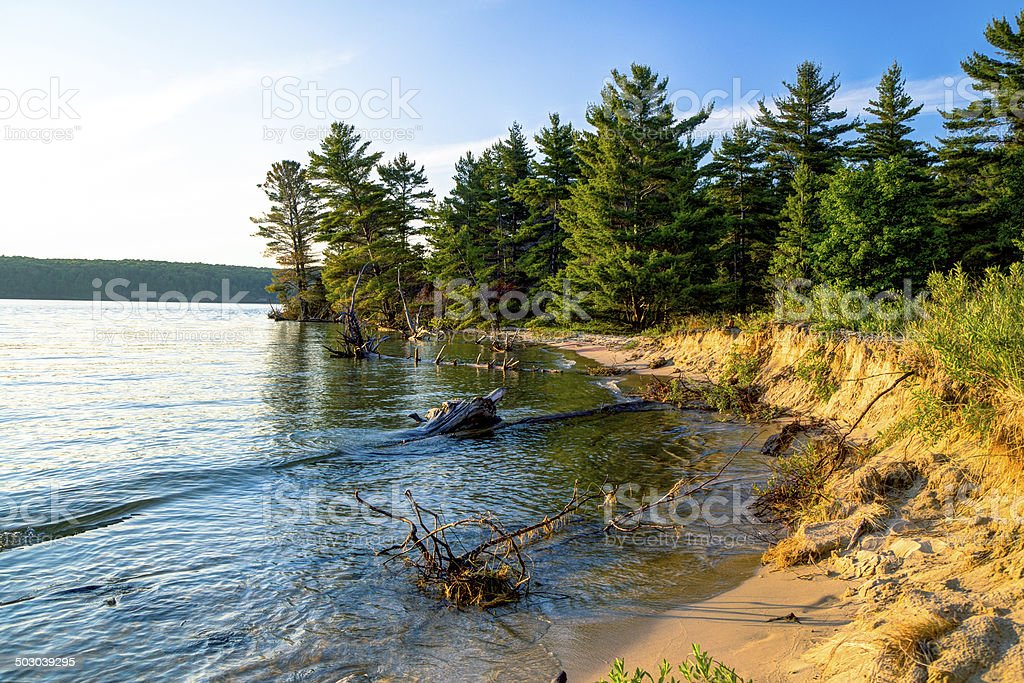 Lake Superior Wilderness Coast stock photo