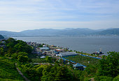 Lake Suwa and Landscape in Suwa, Nagano, Japan