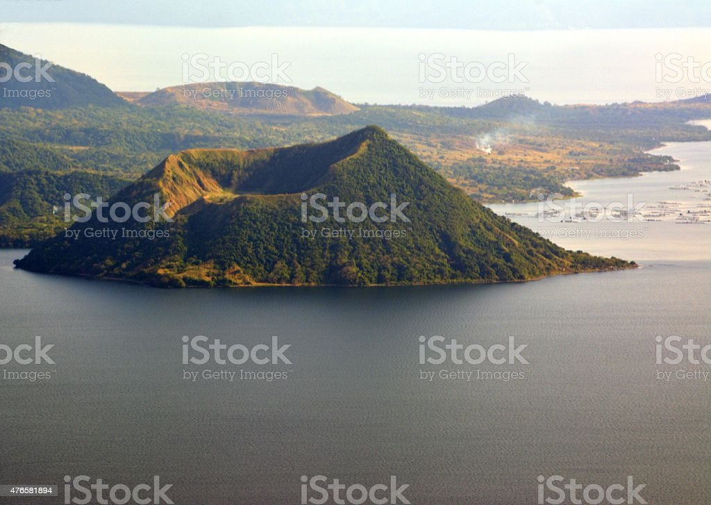 Lake Taal landscape and mount Binintiang Malaki, Luzon Philippines stock photo