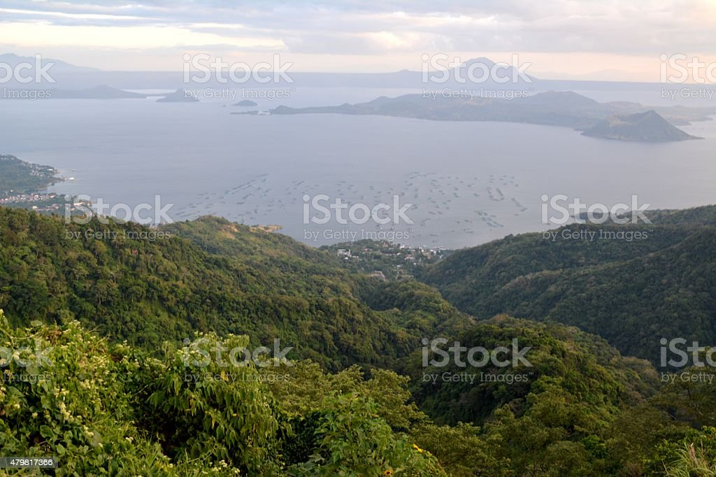 Lake Taal landscape, Luzon Philippines stock photo