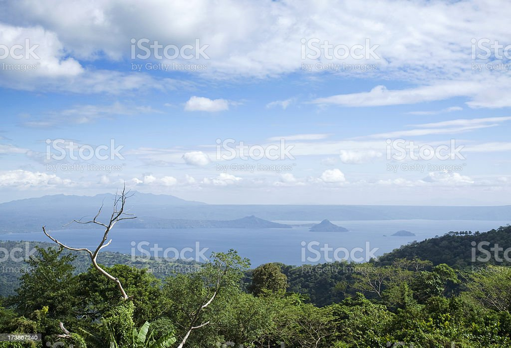 Lake Taal stock photo