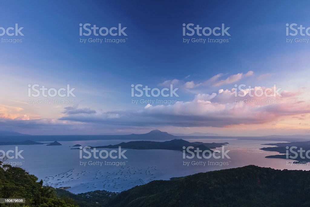 Lake Taal - Sunset stock photo