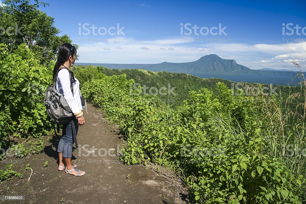 lake taal volcano tagaytay philippines stock photo