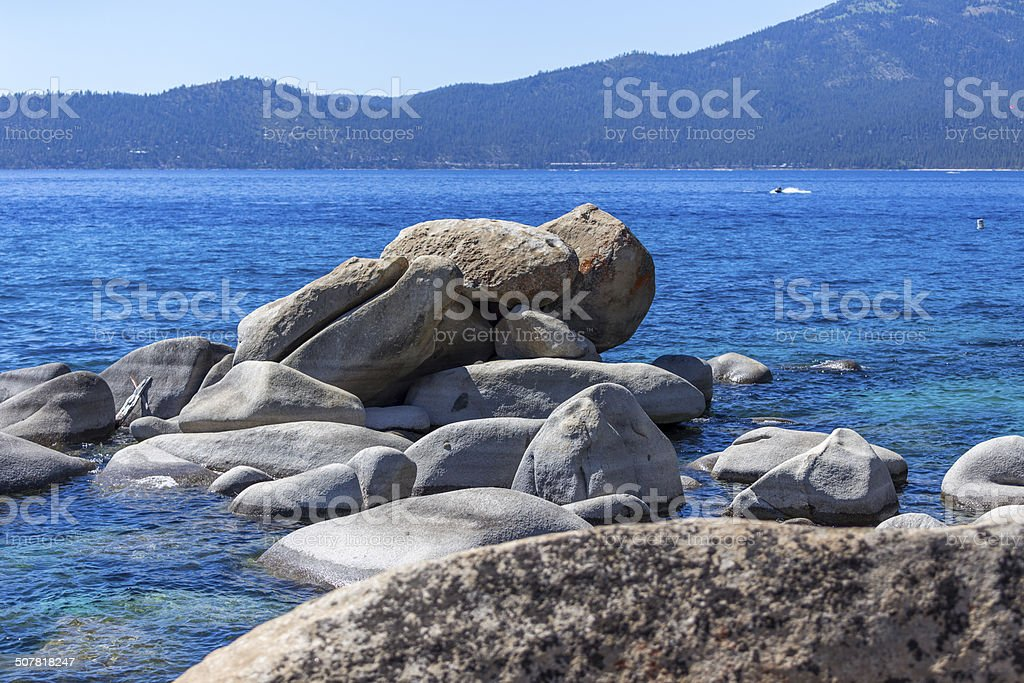 Lake Tahoe at California stock photo