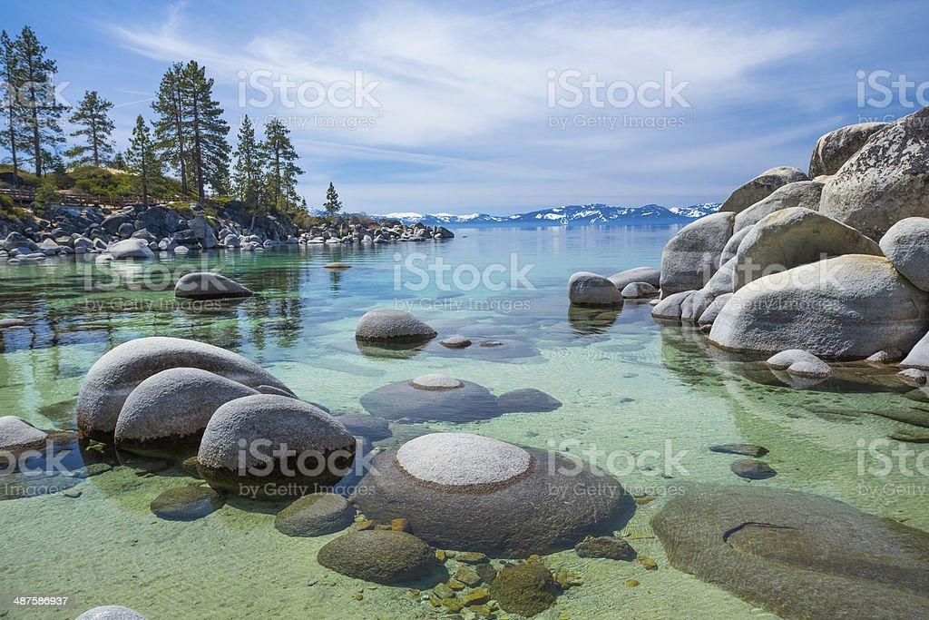 Lake Tahoe beach stock photo