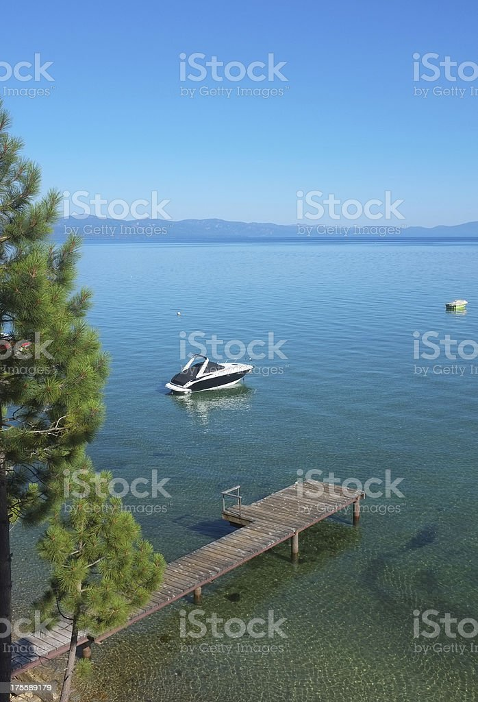 Lake Tahoe in summer stock photo