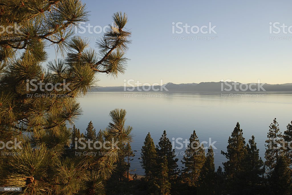 Lake Tahoe in the Late Afternoon royalty-free stock photo