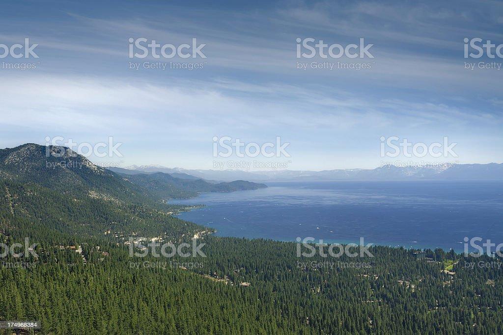 Lake Tahoe landscape stock photo