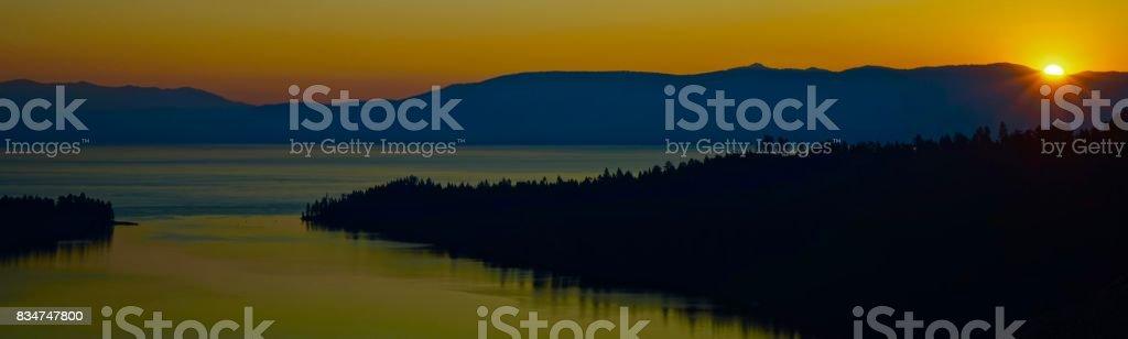 Lake Tahoe Light stock photo