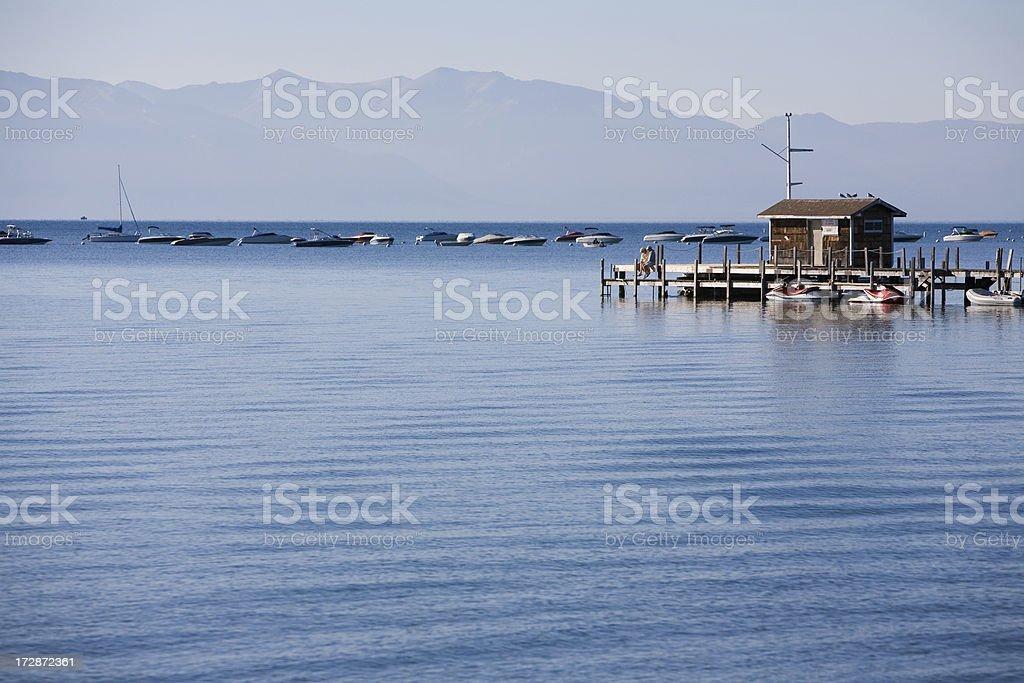 Lake Tahoe Marina royalty-free stock photo