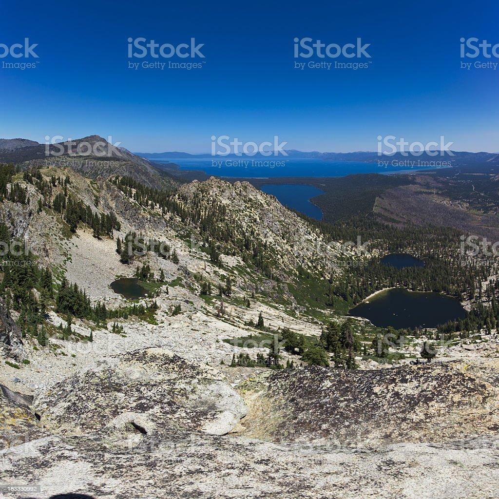 Lake Tahoe Mountains stock photo