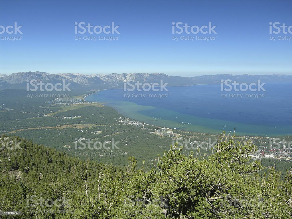 Lake Tahoe Overview - California Side royalty-free stock photo