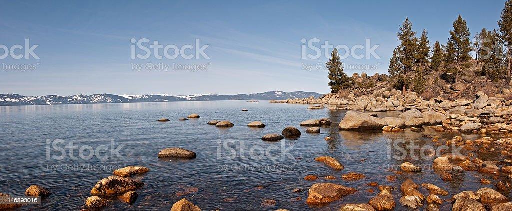 Lake Tahoe Panorama royalty-free stock photo