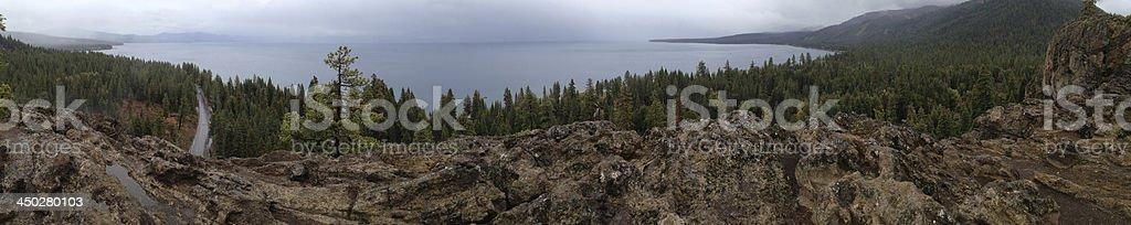 Lake Tahoe Panoramic royalty-free stock photo