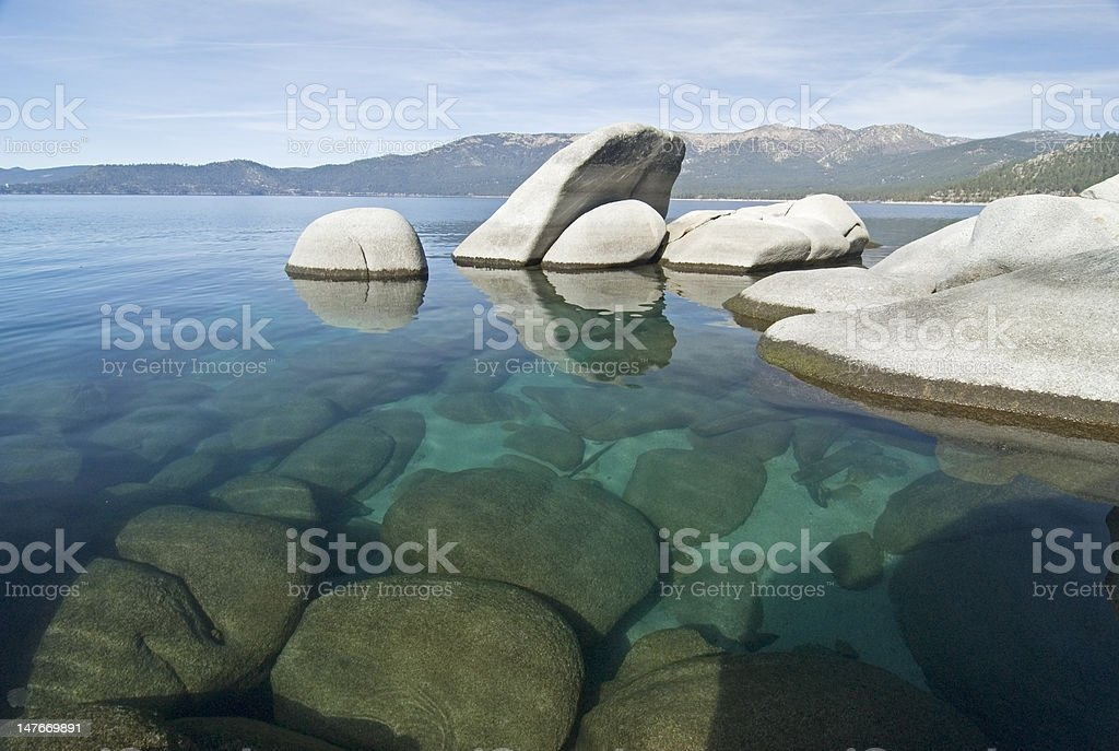 Lake Tahoe serenity stock photo