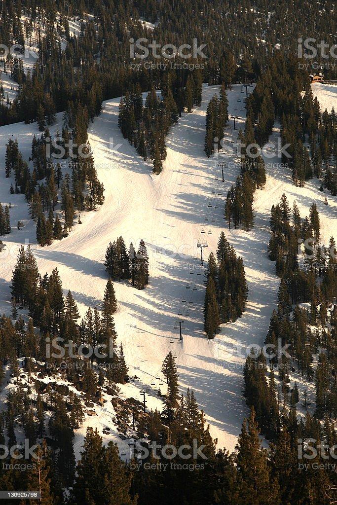 Lake Tahoe Ski Slope royalty-free stock photo