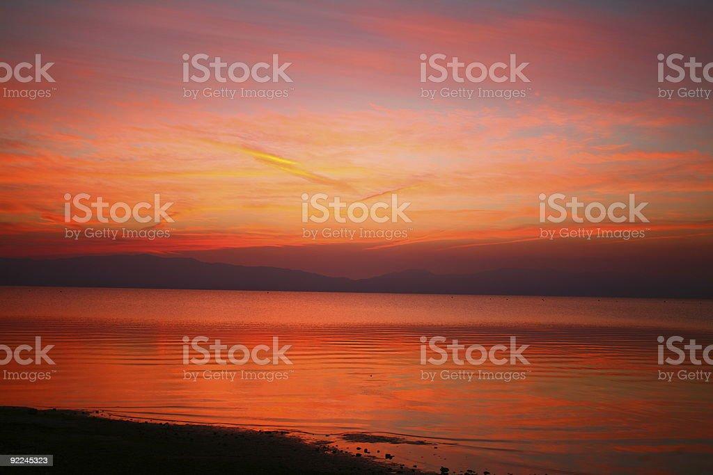 Lake Tahoe Sunrise royalty-free stock photo