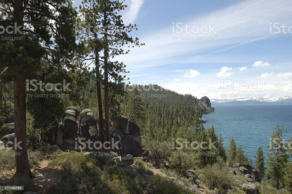 Lake Tahoe View from Southeast Shore royalty-free stock photo