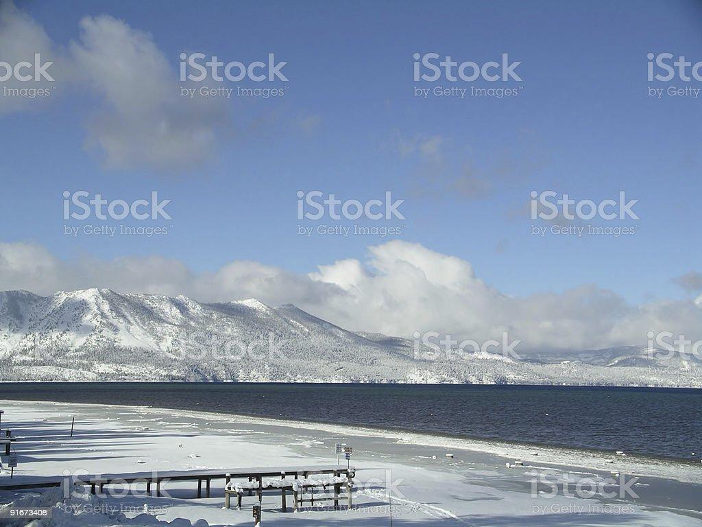 Lake Tahoe winter royalty-free stock photo