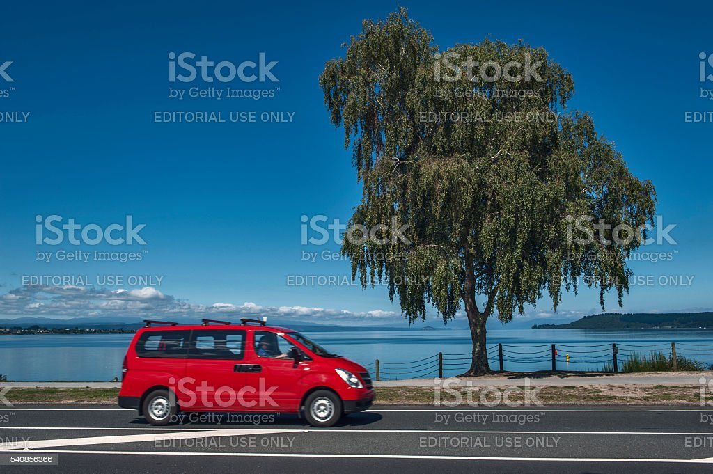 Lake Taupo in North Island of New Zealand stock photo