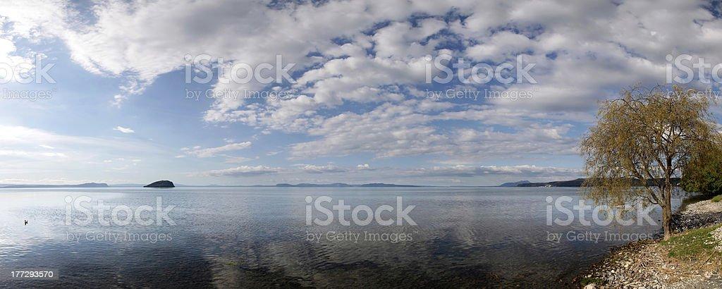 Lake Taupo stock photo