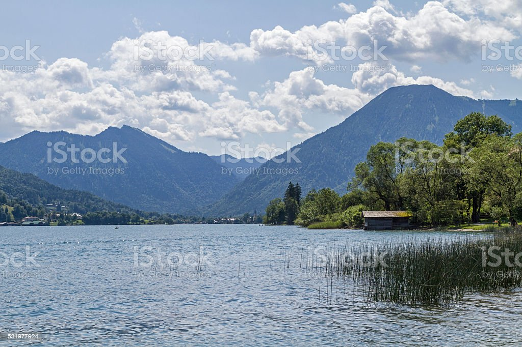 lake Tegernsee in Bavaria stock photo