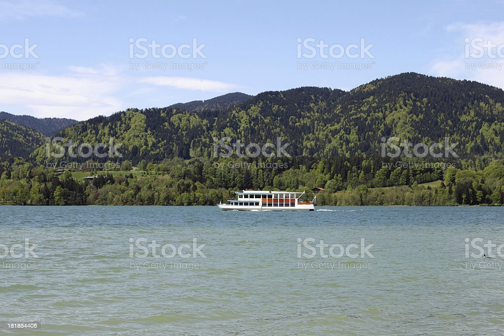 Lake Tegernsee in Upper Bavaria stock photo