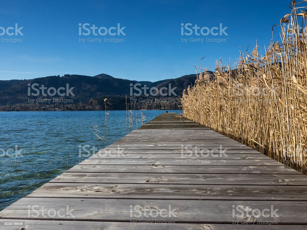 Lake Tegernsee stock photo