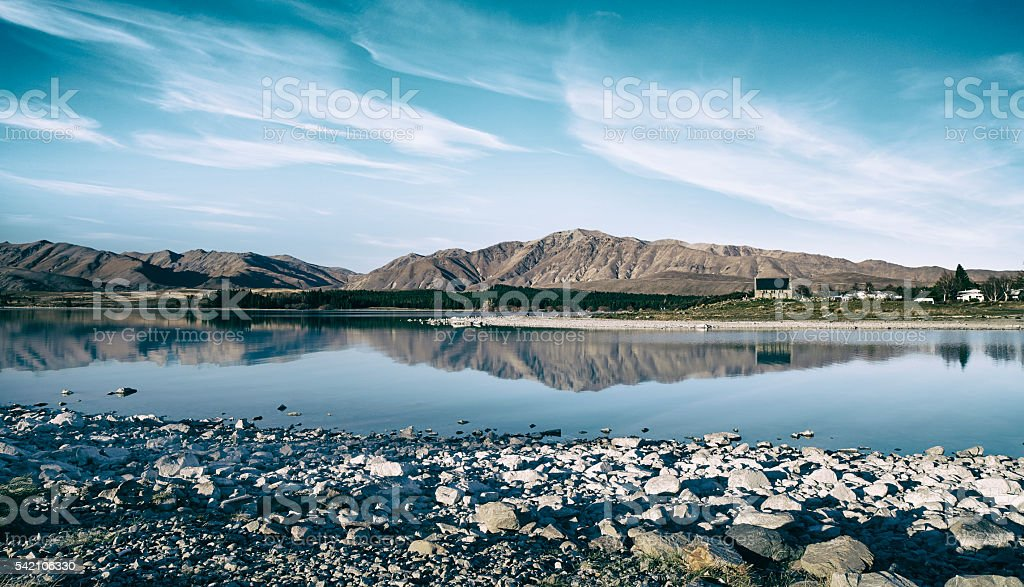 Lake Tekapo Scenics stock photo