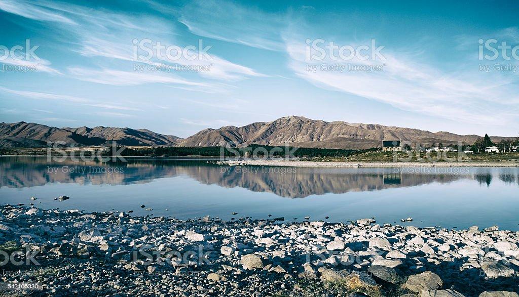 Lake Tekapo Scenics stock photo