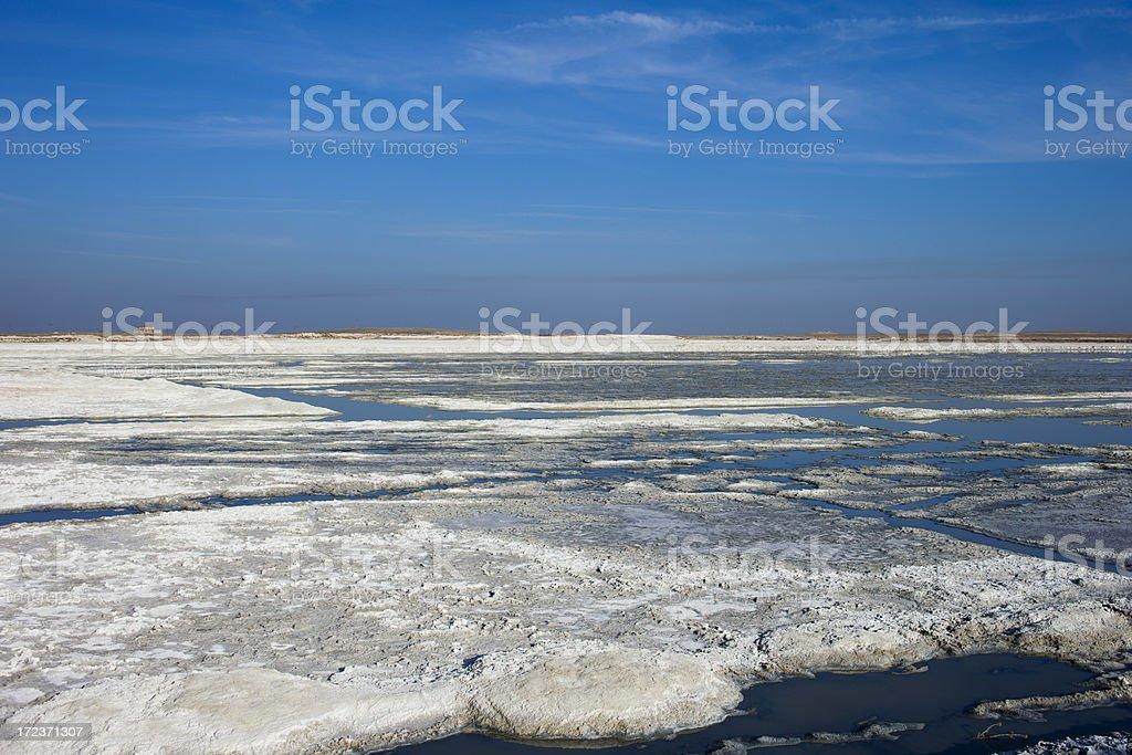 Lake Tersakan -sodium sulfate royalty-free stock photo